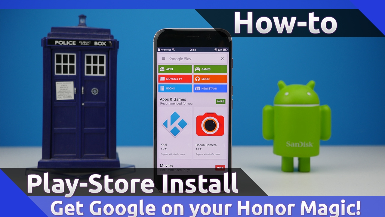Install GOOGLE PLAY STORE on HONOR MAGIC (ENG/GER)