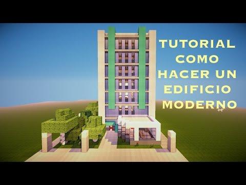 Tutorial como hacer un edificio moderno en minecraft pt3 for Minecraft moderno