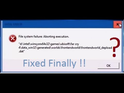 Fatal Error IN FARCRY WTF? How to fix this? [Solution Found Finally!!!] ImpossibleIsPossible?