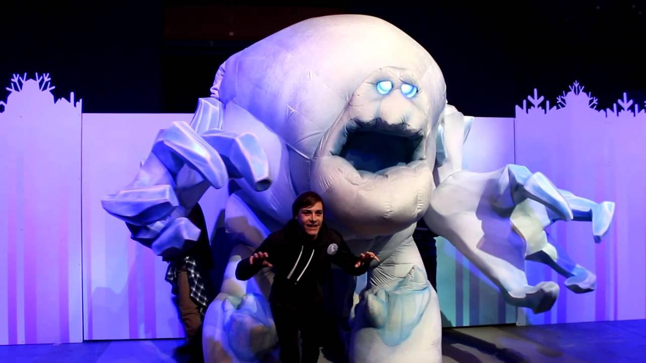 Meet marshmallow from quot frozen quot during frozen fun at disneyland