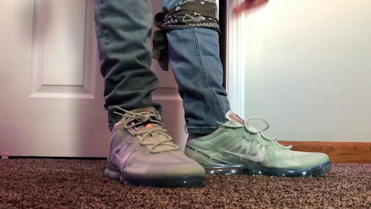Nike Vapormax 2019 Barely Grey On Feet