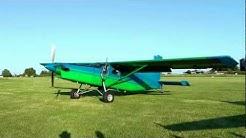 Pilatus PC6 Turbo Porter Start up and impressive Take-off