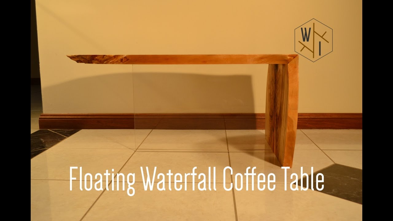 Floating waterfall coffee table youtube