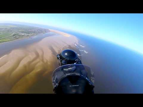 Wirral Coast & Liverpool waterfront by Gyrocopter