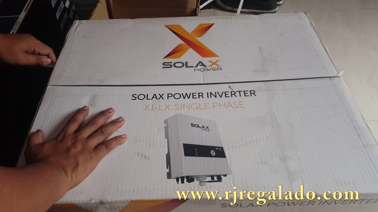 unboxing of solax x1-lx grid tie inverter