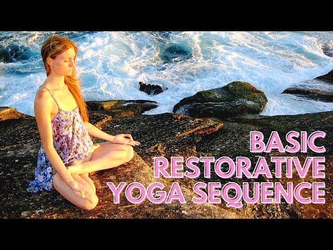 basic restorative yoga sequence  youtube