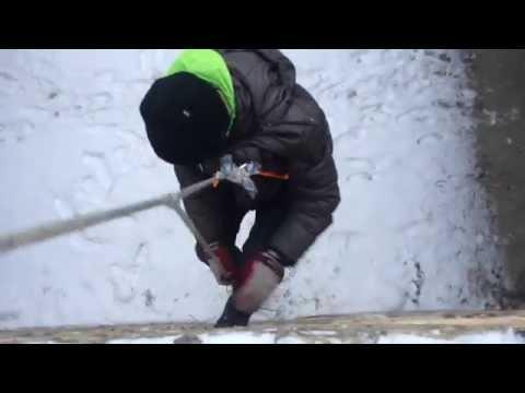 Самодельная система спуска и подъема по веревке