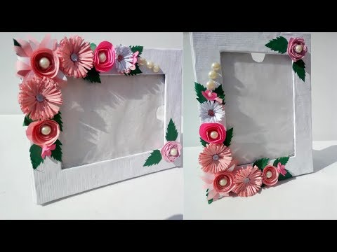 Beautiful Handmade Photoframe Ideas/ DIY Handmade Photoframe Makng At Home/Easy Paper Craft/
