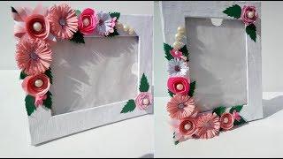 Beautiful Handmade Photoframe Ideas/ DIY Handmade Photoframe Makng At Home/Easy Paper Craft/