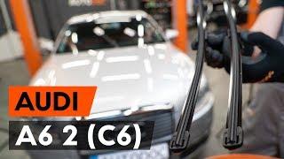 Hogyan és mikor cseréljünk hátsó és első Ablaktörlő AUDI A6 (4F2, C6): videó kézikönyv