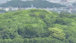 堺市役所展望台から 仁徳天皇陵 堺市.