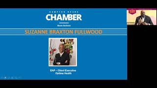 """The hampton roads chamber welcomed fullwood as speaker of year's first power women event! presented, """"emotional self-care; work/life bala..."""