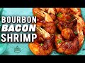 Bourbon Glazed Bacon Wrapped Smoked Shrimp - The Perfect Appetizer!