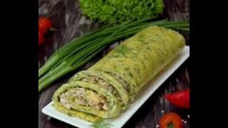 Кабачковый рулет с курицей и сыром рецепт приготування в описах