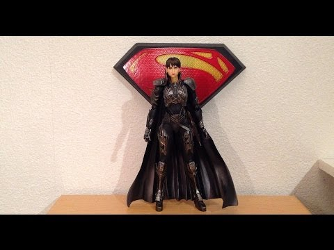 Play Arts Kai - Man of Steel Faora Figure Review