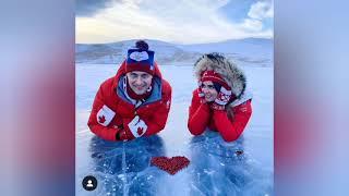 Саша Энберт даже на Байкале не забывает о фигурном катании