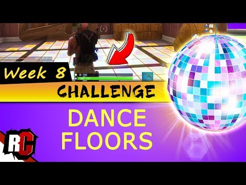 Fortnite WEEK 8 Challenge | All DANCE FLOOR Locations (Finding 3 Dance Floors To Dance On)