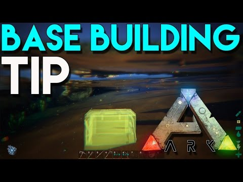 Ark Survival Evolved - Base Building Tip - How To Hide Your Stuff