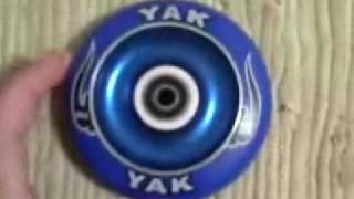 yak scat metalcores 100mm blue (new )