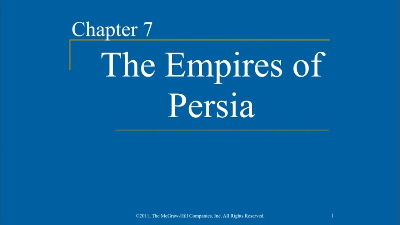AP World History - Ch  7 - The Empires of Persia