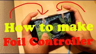 How to make a FOIL Controller L1R1 gaming PUBG | ROS | FORTNITE |Tutorial | DIY
