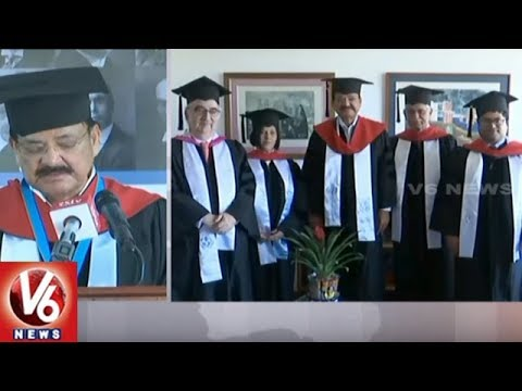 Vice President Venkaiah Naidu Receives Honorary Doctorate From University Of Peace | V6 News