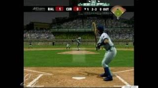 All-Star Baseball 2004 GameCube Gameplay - Wham, bam: two