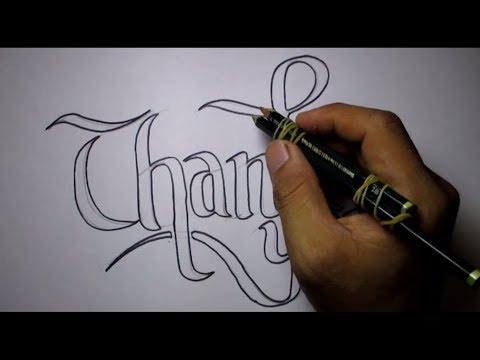 Cara Membuat Tulisan Keren Dengan 2 Pensil