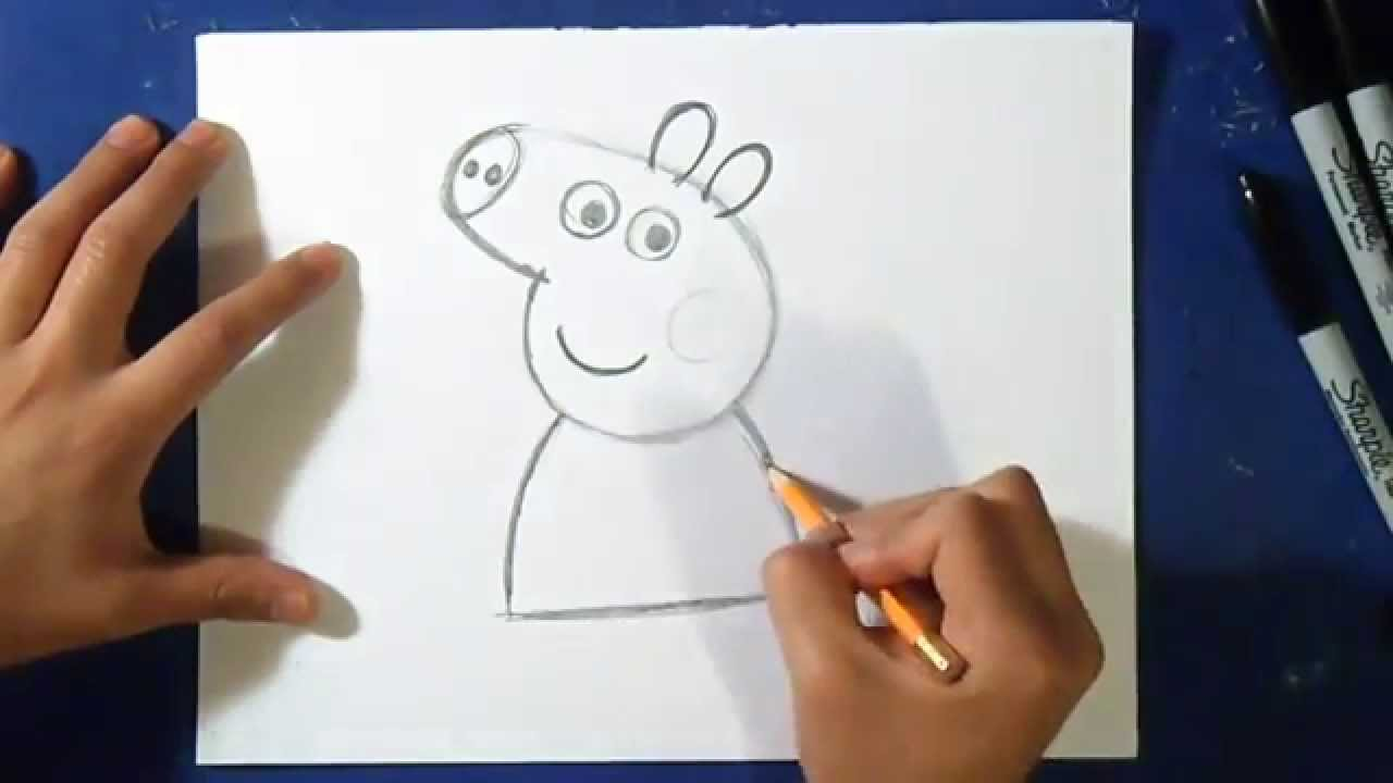 Comment dessiner peppa pig 2 wie zeichnet peppa pig youtube - Dessin peppa pig ...
