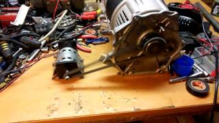 24 volt dc motor running 6250/5000 watt generator.