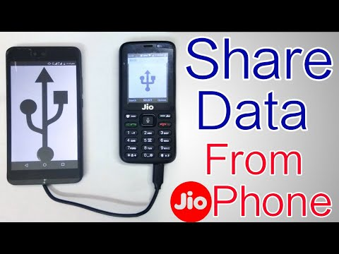 How To Share Data from Jio Phone to another Phone | Send Files from JioPhone to Any Android via USB