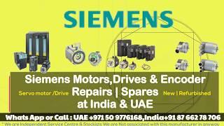 Siemens Servo Motor Repairs in India | UAE - Encoder Resolver Align Adjust Install How