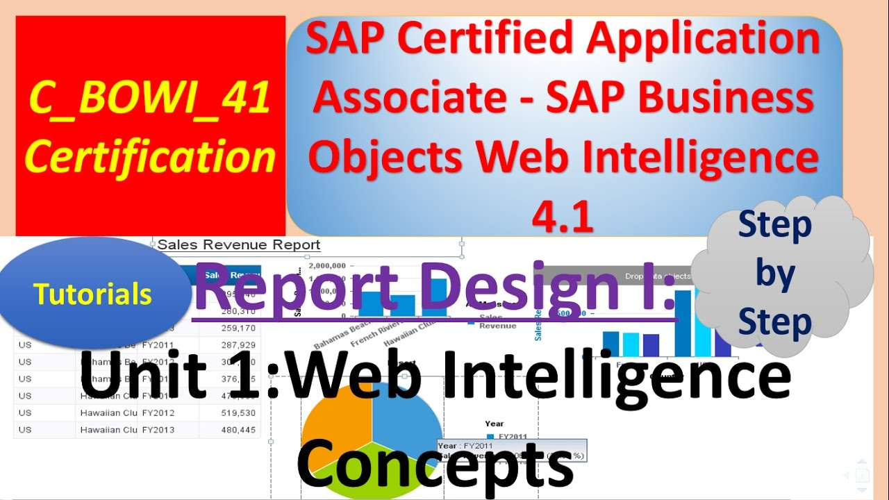 Sap Businessobjects Report Design I Unit 1 Tutorial Web