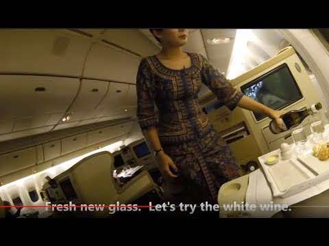Capital Express Singapore Airlines SQ 292 Wellington to Canberra Business Class
