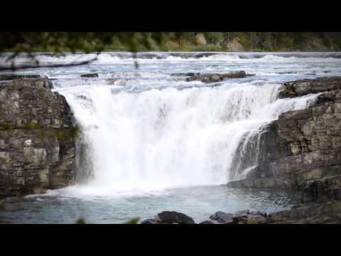 A Scenic HD Waterfall Video - Kootenai Falls, Montana (1 Hr)