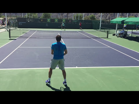 Ernests Gulbis Thanasi Kokkinakis Indian Wells BNP Paribas Open 2015 3/10/2015 Practice