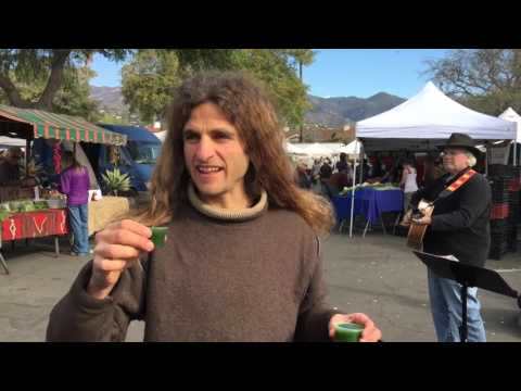 Raw Food Eaters at the California Farmers Market!