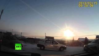 Падение метеорита в Челябинске (новое видео)