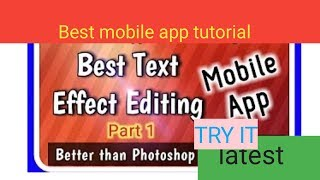 Best editing app for android mobile || make proffesional photos and thumnail for youtube channel