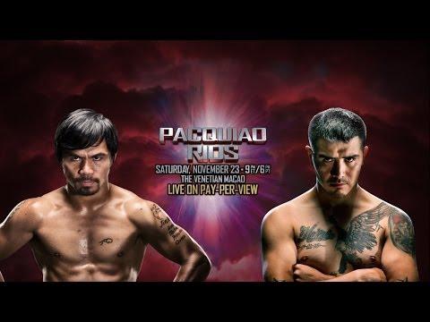 Pacquiao vs Ríos: Manny Pacquiao - Media Conference Call