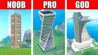 Fortnite NOOB vs PRO vs GOD: EPIC SKYSCRAPER in Fortnite