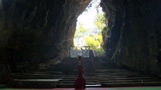 Баскетбол в пещере: уникальный спортзал в Китае