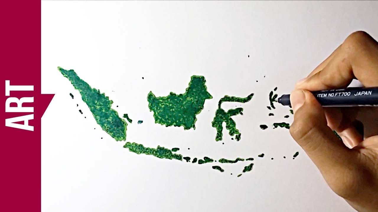 Bisa Dicoba Menggambar Peta Indonesia 3d Dengan Spidol Redraw
