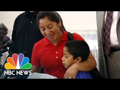 See Mother Seeking Asylum Reunited With Son After Month Apart!