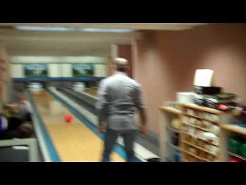 David Skinner bowling at the White House