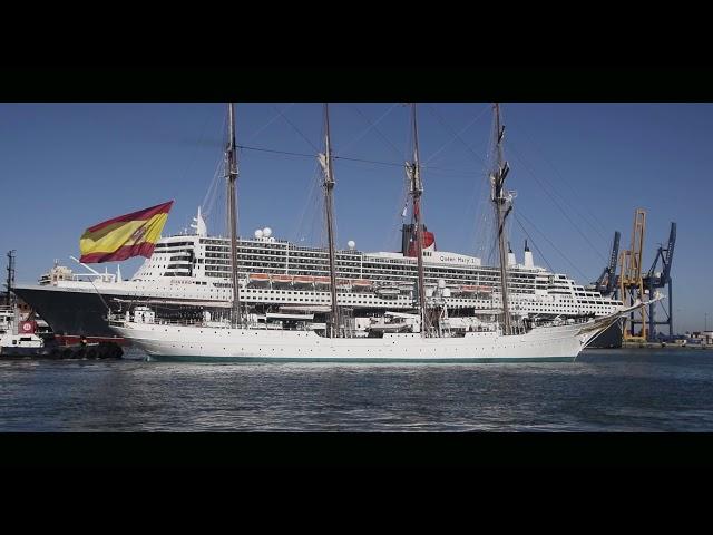 Salida Juan Sebastian Elcano desde Cádiz