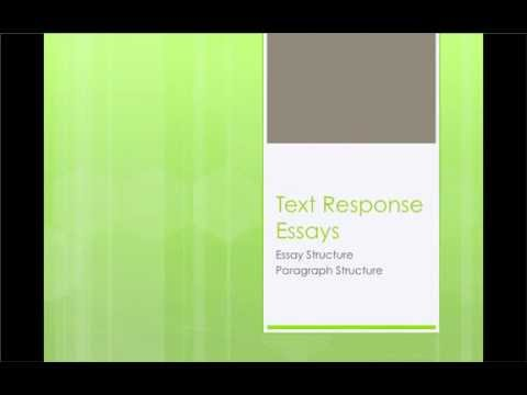Text Response Essays  Youtube