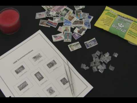 Stamp Collecting - How to Hinge a Postage Stamp (Long Version)