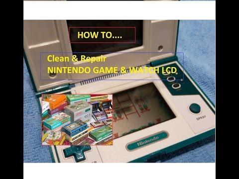 Nintendo Greenhouse Game and Watch - How to repair LCD to NEW [HD] 2015