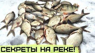 Как наловить в 3 раза больше рыбы зимой на реке Секреты зимней рыбалки НА ТЕЧЕНИИ